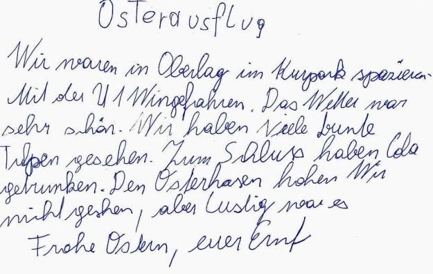 Rady Bericht Osterausfl
